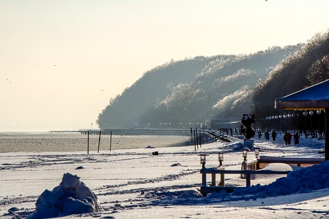 Winter in Gdynia (Poland)