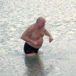Gdynia, Poland - winter swimming in the sea