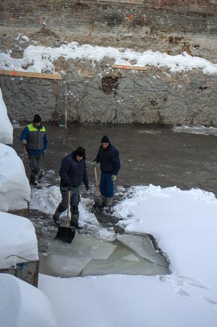 Gdynia, Poland - ice problem