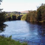 River Leven (Scotland) near Dumbarton, Scotland