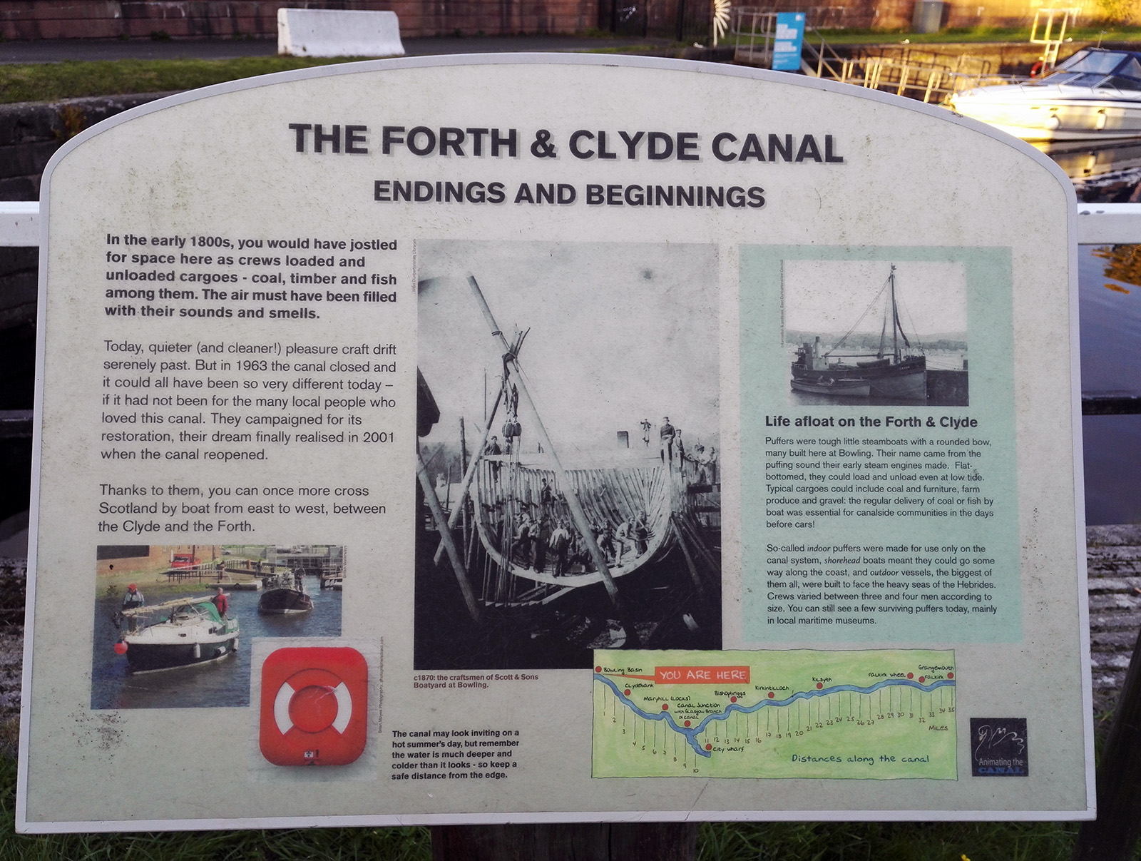 The Forth and Clyde Canal, Scotland