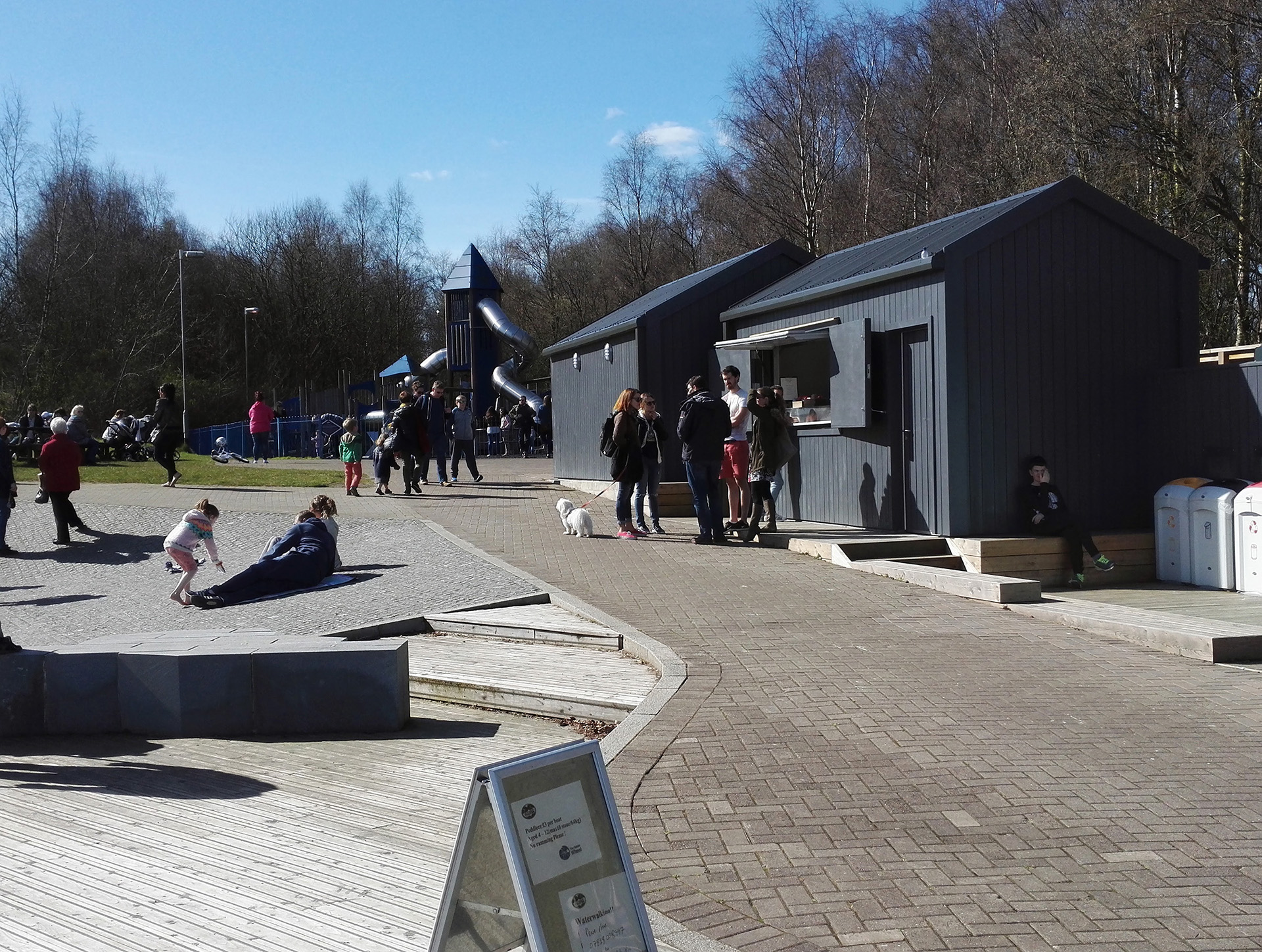 The Falkirk Wheel - small food court