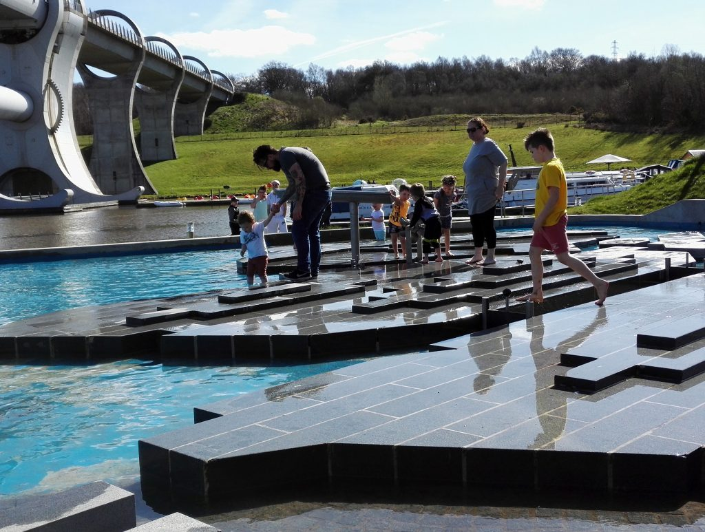 The Falkirk Wheel - plays in water