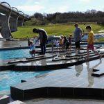 The Falkirk Wheel - plays in water