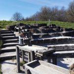 The Falkirk Wheel - cascade of water